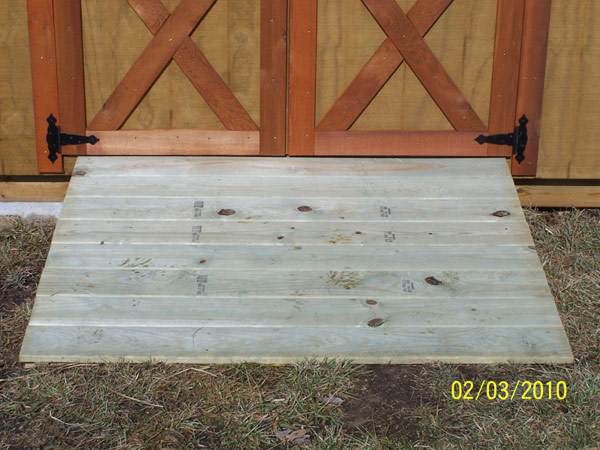 Building a Storage Shed Ramp