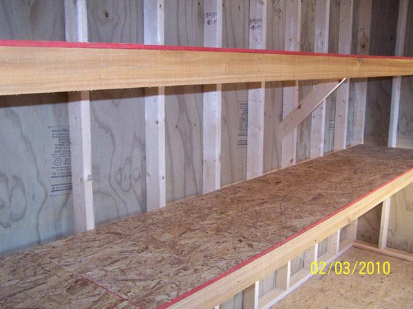Building Storage Shed Shelves