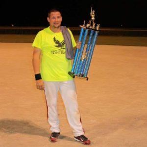 Dale holding is hard-earned trophy!