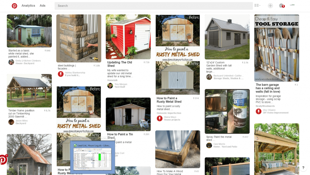 Metal Sheds from Pinterest