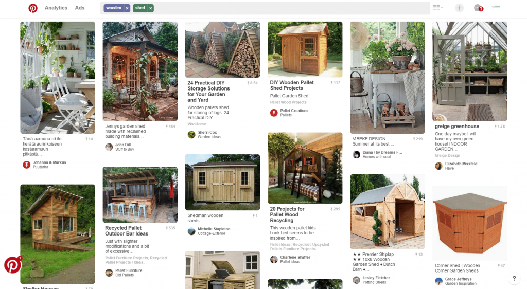 Wooden Sheds from Pinterest
