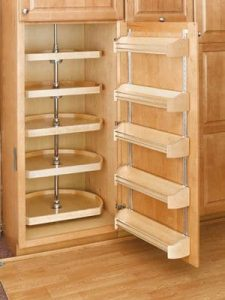 wooden storage shelves - storage hacks