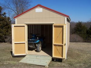 shed with double doors