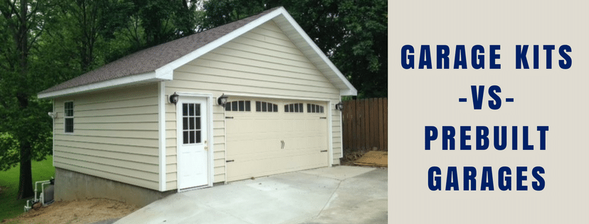 Garage kits vs prebuilt garages classic buildings for Attached garage kits