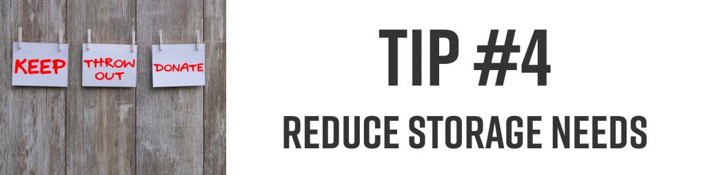 reduce storage needs