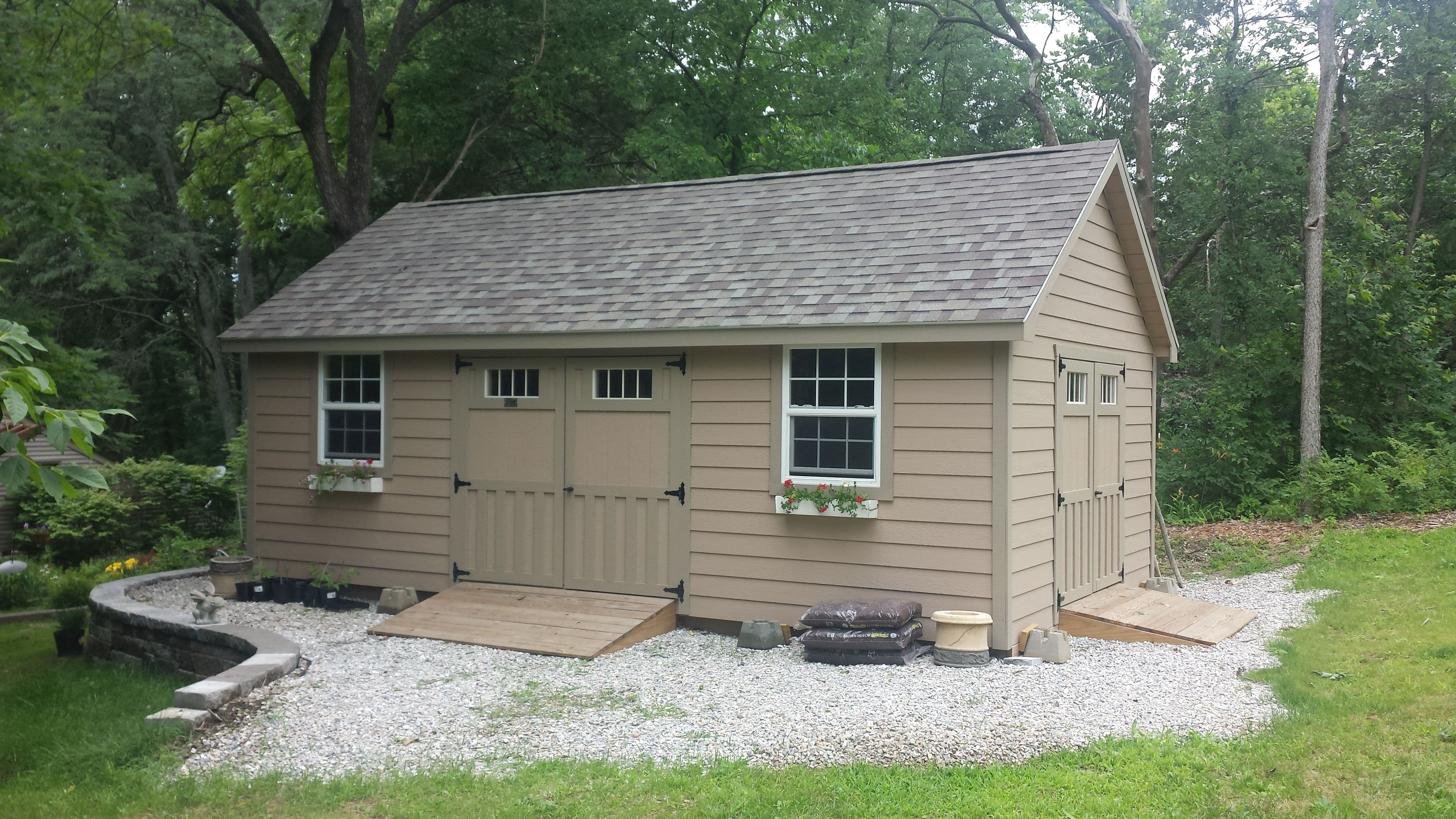 gravel foundation sheds pinterest pin for garden pad ramps shed