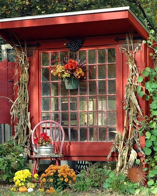 large window garden shed