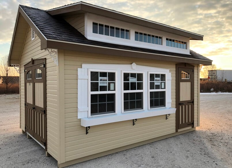 chateau style shed