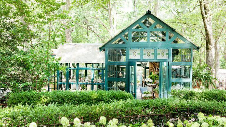 glass potting shed