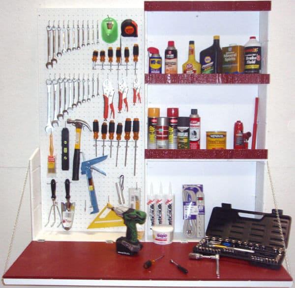 workshop with tool organizer