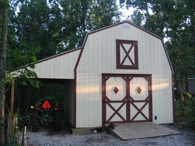 2 story barn with lean-to option