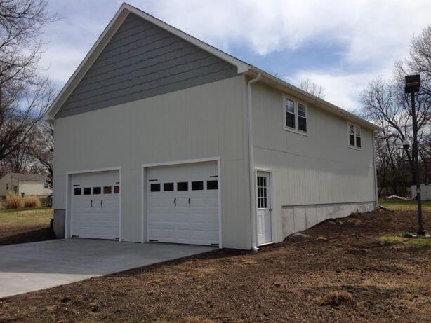 2 car garage with workshop