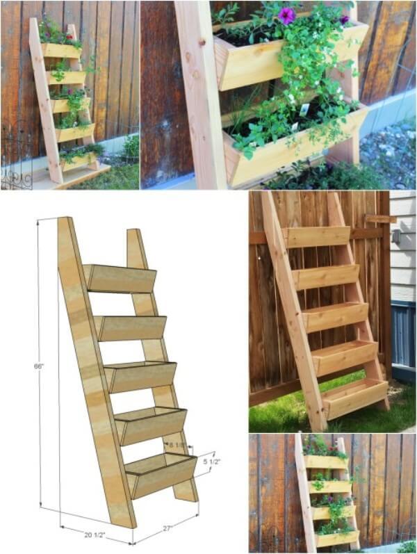 herb ladder planter