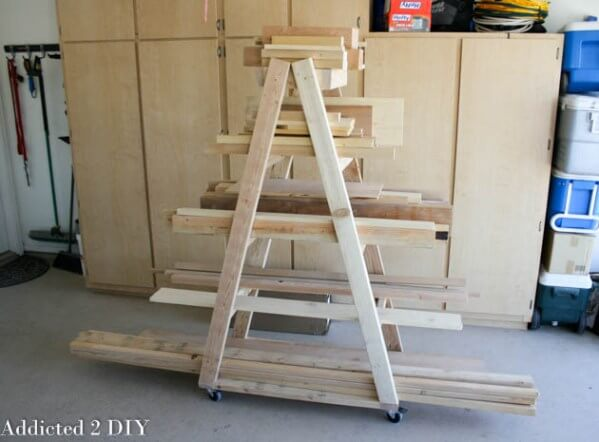 moveable lumber rack