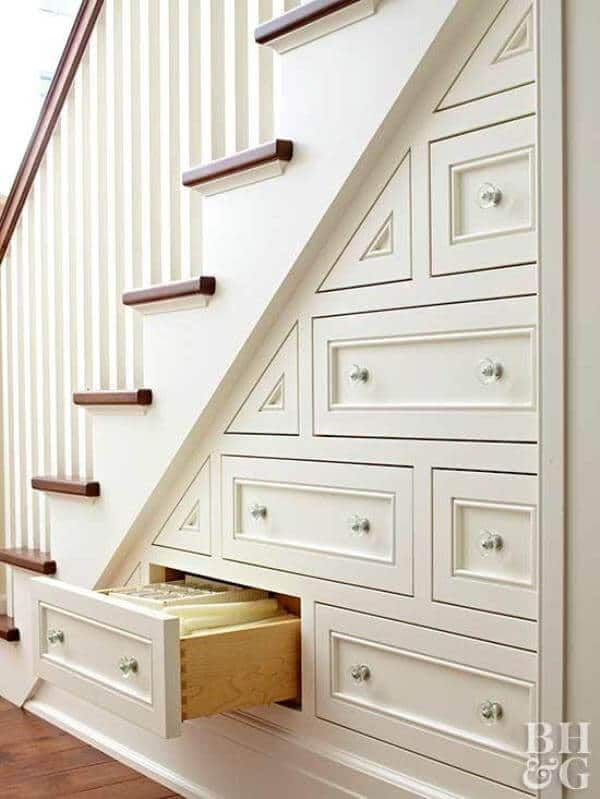 Drawers under your stairs