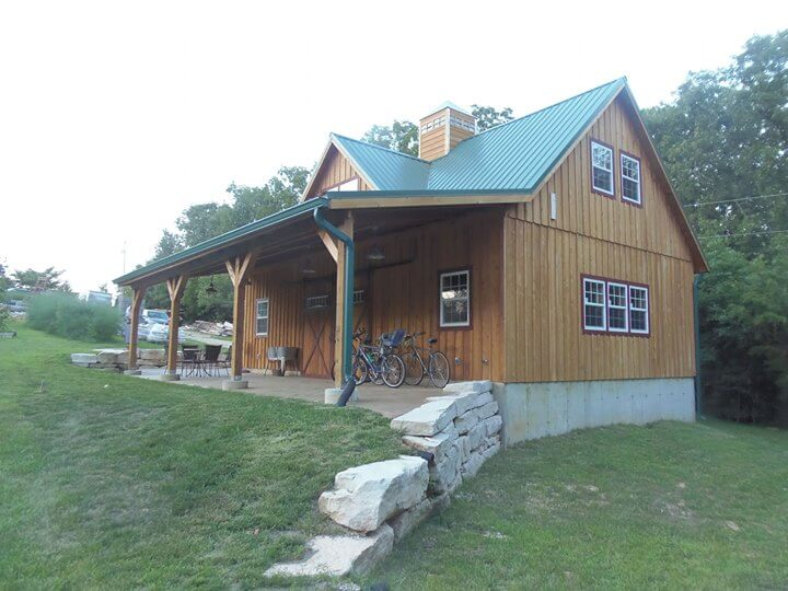 two story cabin
