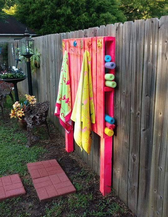 pool noodle pallet storage