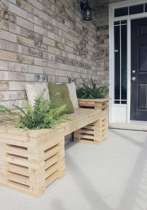 cedar bench planter