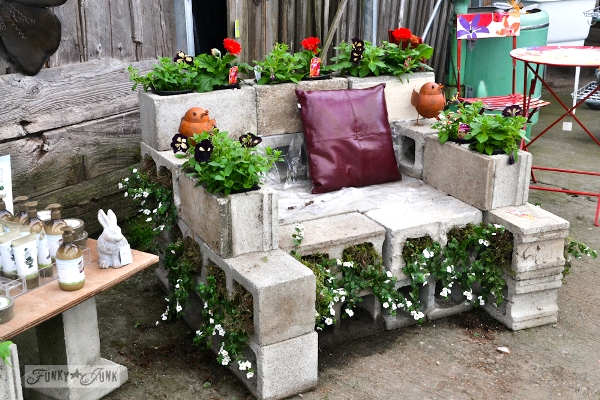concrete block chair