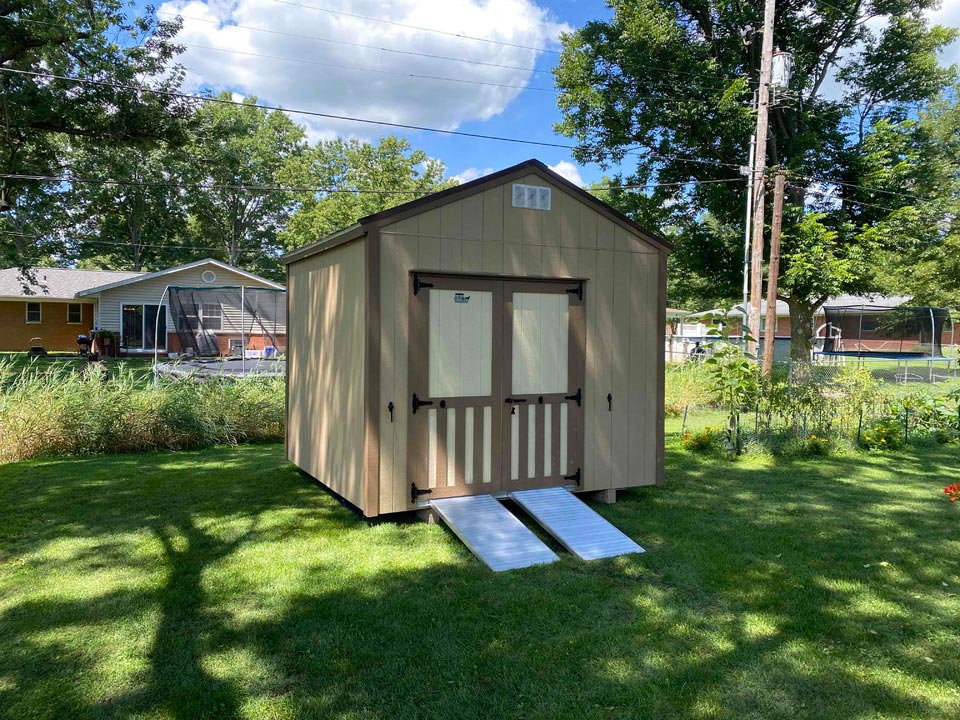 10x10 Utility Shed - Classic Buildings Sales