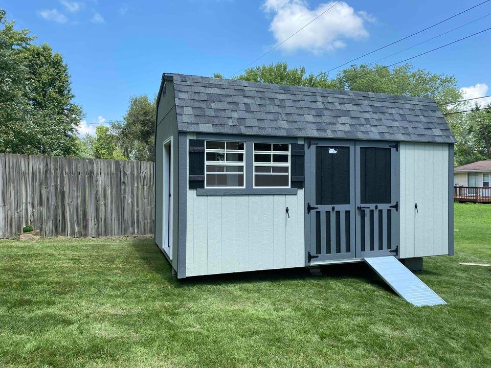 10x16 Lofted Garden Barn - Classic Buildings Sales