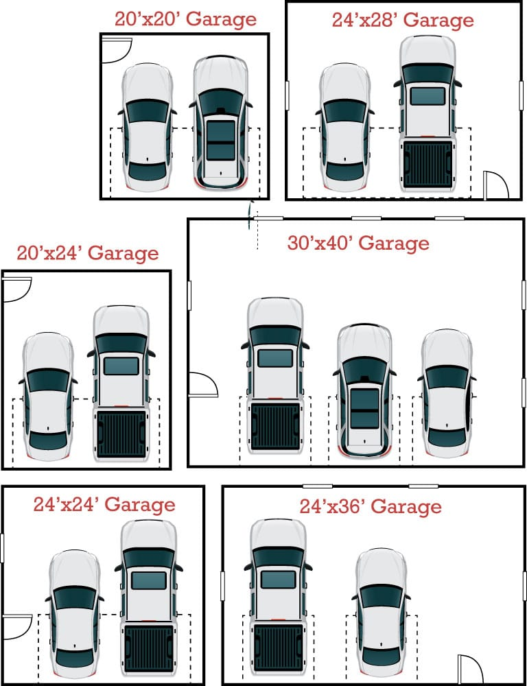 Garage Floor Plans - Classic Buildings