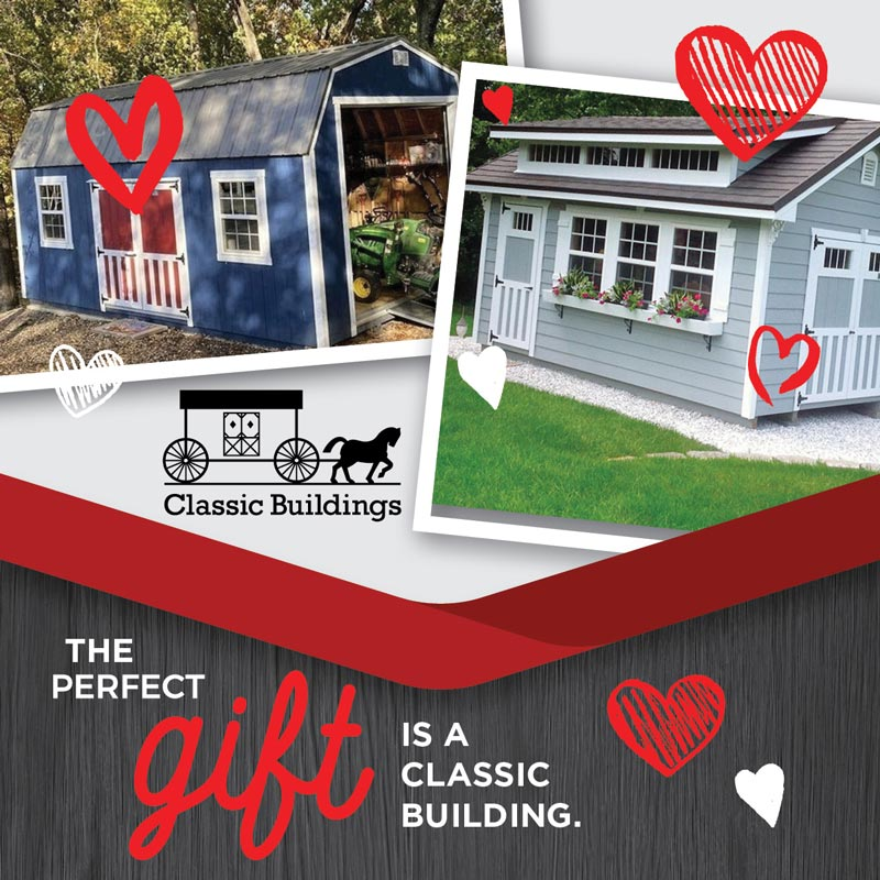 Valentine's Day 2021 Promotional Graphic for Classic Buildings